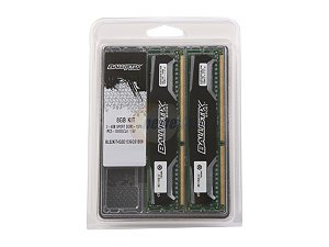 Crucial Ballistix 16GB (2x8G) DDR3 1600FSB Kit 240Pin